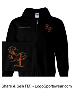 """The Rising"" Gildan Heavy Blend Mens Full Zip Hooded Sweatshirt Design Zoom"