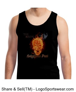 """The Rising"" 100% Heavyweight Ultra Cotton Tank Top Design Zoom"